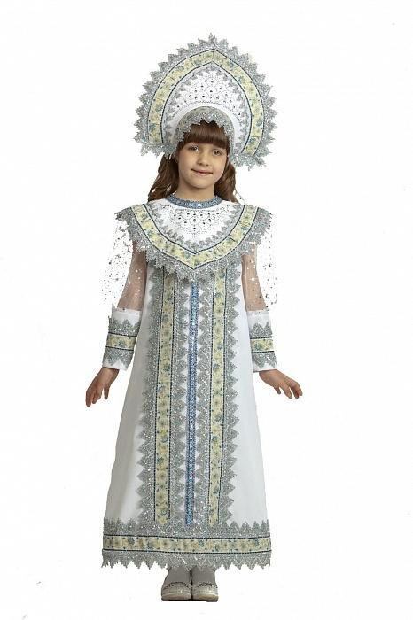 купить новогодний костюм снегурочки детский Сударыня 8671ee6148df2