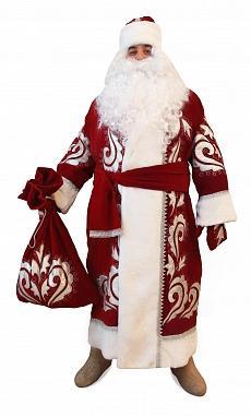 Костюм Деда Мороза бархат с вышивкой