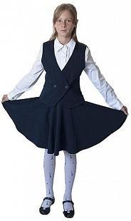 Школьная форма для девочек тёмно синего цвета фото