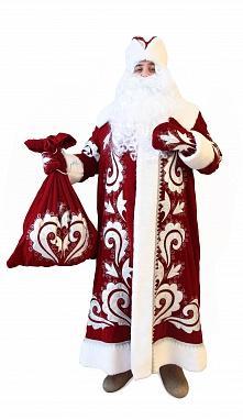 Костюм Деда Мороза боярский бархат с вышивкой